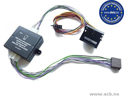 Interface for aktivt OEM-lydsystem i BMW med Quadlock tilkobling