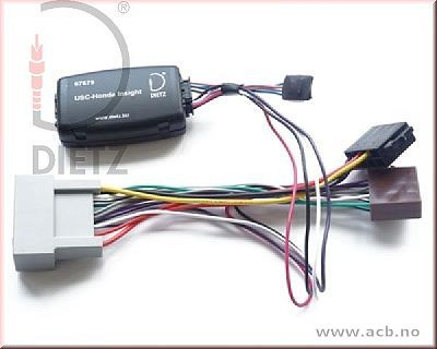 Rattbetjening adapter for HONDA Accord VIII (2008 > ), CR-Z (2010 > ), Insight (2009 >), Jazz III (2008 > )