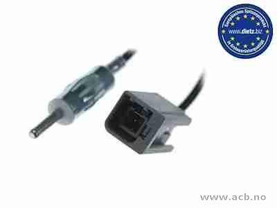 Antenneadapter for VOLVO C70 (2001 - 2005), S40 (2000 - 2003), S60 (2000 - 2010), S70 (2001 - ), S80 (1998 - 2006), V40 (2001 - 2003), V70 (2001 - 2008), XC70 (2001 - 2007)