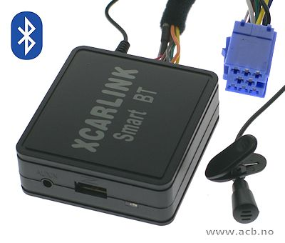Adapter for å koble Bluetooth og aux til bilradioen. Plugges inn bak på radioen i stedet for cd-skifter. Bluetooth streaming og handsfree funksjon. For Citroen med RD3 radio. CD-skifter inngang må aktiveres med DIAG 2000 diagnoseprogram (verksted)